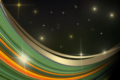 Abstract background with stars Stock Photo