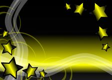 Colorful Abstract background with stars Stock Image