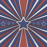 Abstract background with stars and red and white stripes on blue. Vector illustration Royalty Free Stock Images