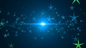 Abstract background with stars. Seamless loop stock video