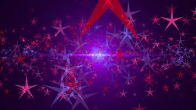 Abstract background with stars. Seamless loop stock footage