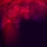 Abstract background, with stars, snowflakes and blurry lights Stock Photography