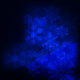Abstract background, with stars, snowflakes and blurry lights Stock Photos
