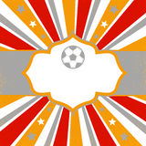 Abstract Background with stars, soccer ball and stripes Stock Image