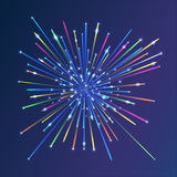 Abstract Background with Stars. Styled fireworks. Abstract picture of the sky with fireworks. Stylized spray salute Royalty Free Illustration
