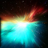 Abstract background with stars and supernova Royalty Free Stock Image