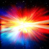 Abstract background with stars and supernova Stock Photo