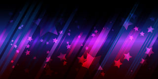 Abstract background with stars. Vector illustration Stock Images