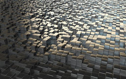 Abstract background steel cubes Stock Photography