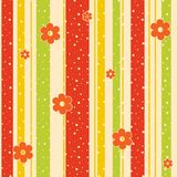 Abstract background with strips and flowers. Royalty Free Stock Photography