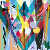Abstract background. With strokes, splashes and geometric lines Stock Illustration