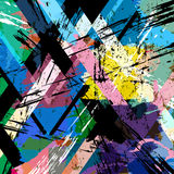 Abstract background. With strokes, splashes and geometric lines, grungy vector illustration