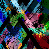 Abstract background. With strokes, splashes and geometric lines, grungy stock illustration