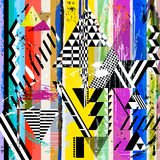 Abstract background,. With strokes, splashes, stripes and triangles royalty free illustration
