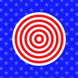 Abstract background in style american flag. Vector Stock Photo
