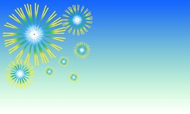 Free Abstract Background, Style Carnival Fireworks Icon Splash Explosion, Or Dandelion Flowers Blooming Against Blue Sky. Vector Stock Image - 176386331