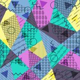 Abstract background in the style of Memphis vector illustration