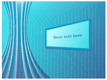 Abstract IT-background with stylized cables, wires, and monitor-like text box. Abstract blue-white IT-background with stylized cables, wires, and monitor-like Stock Photos