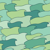 Abstract background of stylized fish. Royalty Free Stock Photos