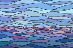 Abstract background with stylized wave and sky Royalty Free Stock Photos