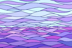 Abstract background with stylized wave and sky. Illustration like stained-glass window Stock Image