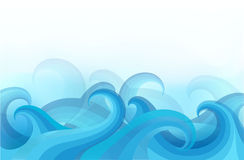 Abstract background with stylized waves Royalty Free Stock Images