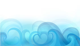 Abstract background with stylized waves. On a light background Stock Images