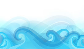 Abstract background with stylized waves. On a light background Royalty Free Stock Photos