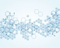Abstract background substance and molecules. Abstract medical background substance and molecules design stock illustration