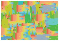 Abstract background `Summer`. Color associations. stock illustration