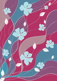 Abstract background summer flowers Stock Photography