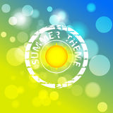 Abstract background with summer theme Royalty Free Stock Photo
