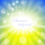 Abstract background with summer theme Royalty Free Stock Images