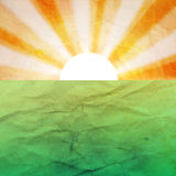 Abstract background with the sun and the earth Royalty Free Stock Image