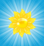 Abstract background with sun and light rays Royalty Free Stock Photo