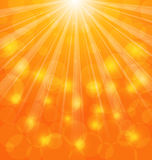 Abstract Background with Sun Light Rays Stock Image