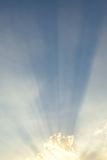 Abstract background of sun light shining through the clouds Stock Images