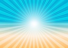 Abstract Background - Sun Rays and Beach stock illustration