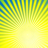 Abstract background with sun rays. Abstract yellow background with sun rays stock illustration