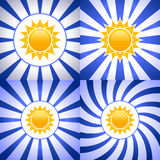 Abstract background with sun. Royalty Free Stock Photos