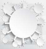 Abstract background of Sun shaped paper cut Royalty Free Stock Image