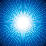 Abstract background of sunbeam on blue background Royalty Free Stock Image