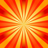 Abstract background with sunburst. Orange and yellow abstract background with sunburst (vector royalty free illustration