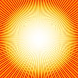 Abstract  background with sunburst (vector). Abstract  yellow-orange background with sunburst (vector Royalty Free Stock Photos