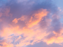 Abstract background : sunlight cloud and sky. In evening royalty free stock photography