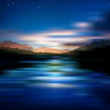 Abstract background with sunrise and mountains Royalty Free Stock Photography