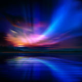 Abstract background with sunset and mountains Royalty Free Stock Photography
