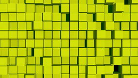 Abstract background with surface cubes Royalty Free Stock Image