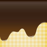 Abstract background sweet brown chocolate, cake background vecto Royalty Free Stock Photo
