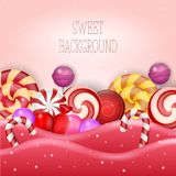 Abstract background with sweet candy Royalty Free Stock Image